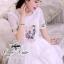 Odee Cutie White Dress เดรสแขนสั้นสีขาว ปักดอกไม้สีหวาน thumbnail 5