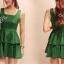 Partysu Layer Trim Dress เดรสแขนกุดกระโปรงระบายเป็นชั้นๆ thumbnail 4