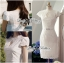 Lady Ribbon High Classy See-Through Lace Dress in White thumbnail 7