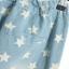 กางเกงขายาว ผ้าฝ้ายสีฟ้า พิมพ์ลายดาว เชือกผูกโบว์ที่เอว thumbnail 5