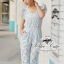 Odee Cutie จั๊มสูทขายาวผ้าลูกไม้ แขนระบาย สีฟ้าหวานใส thumbnail 1