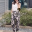 Seoul Secret ชุดเซ็ทเสื้อ กางเกงขายาวลายดอกซากุระ thumbnail 8