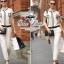 Chanel black&white line jumpsuit จั๊มสูทขายาว สีขาวดำ thumbnail 3