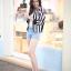 Chic Black n White Striped Jacket thumbnail 4