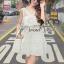 Seoul Secret เดรสผ้าคอตตอนสีขาว ทรงคล้องคอ แต่งระบาย thumbnail 1