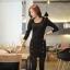 Little Black Dress by Cherry KOKO เดรส ผ้าเนื้อผสมลายตาราง แต่งกระดุมเก๋ๆ thumbnail 1