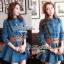 Lady Ribbon Denim Dress เดรสเชิ้ต ผ้ายีนส์ พร้อมเข็มขัด thumbnail 6