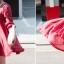 เสื้อผ้าฝ้ายสีแดง มีสายเชือกไขว้ที่อก แต่งไหมพรมถัก thumbnail 4