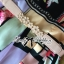Lady Ribbon Orchid Printed Satin Long Dress with Daisy Belt thumbnail 9