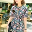 Seoul Secret Chic &Cool Blossom Print Dress thumbnail 4