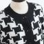 คาร์ดิแกน ผ้าไหมพรมถักลายกราฟฟิก กระดุมหน้า สีขาวดำ thumbnail 6