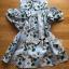 Lady Ribbon Cut-Out Flower Printed Blue Dress thumbnail 5