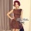 Lady Ribbon Leopard Print Mini Dress มินิเดรสแขนกุด พิมพ์ลายเสือดาว thumbnail 1