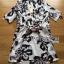 Lady Ribbon Shirt Dress เชิ้ตเดรสพิมพ์ลายดอกชบา thumbnail 6