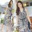 Lady Ribbon Maxi Dress เดรสยาวแขนกุด ผ้าชีฟองพิมพ์ลายผสม thumbnail 6