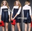 Lady Ribbon Embellished Cotton and Denim Shirt Dress thumbnail 5