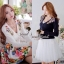 Seoul Secret เสื้อคาร์ดิแกน ผ้าไหมพรมประดับเพชรหลากสี thumbnail 1