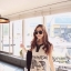 Ice Vanilla เดรสแขนกุดสีขาว พิมพ์ลายสไตล์เกาหลี thumbnail 5