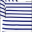 Cherry Dress เสื้อลายขวาง สีน้ำเงิน ผ้า Cotton ผสม Spandex thumbnail 6