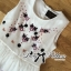 Lady Ribbon Crystal Embellished Cotton Silk Dress thumbnail 6