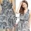 Lady Ribbon Maxi Dress เดรสยาวแขนกุด ผ้าชีฟองพิมพ์ลายผสม thumbnail 5