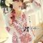 Lady Ribbon Top เสื้อแขนยาวสีขาวปักลายธรรมชาติ สีแดง thumbnail 4
