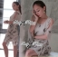 Lady Ribbon Chiffon Dress เดรสผ้าชีฟอง พิมพ์ลายขนนก thumbnail 9