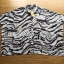 Lady Ribbon Zebra Camouflage Printed Shirt Dress thumbnail 5