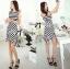 Lady Ribbon Lady Charlies Mix Striped Monochrome Dress thumbnail 6