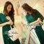 Lady Ribbon เดรสยาวผ้าชีฟองสีเขียวหัวเป็ด กระโปรงพลีท thumbnail 6