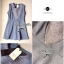 Lady Ribbon Mini Dress มินิเดรสแขนกุด สีทูโทน thumbnail 12