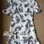 Lady Ribbon Collar Blue Floral Blooming Chinoise Dress thumbnail 7