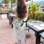 Lady Ribbon Mix Orchid Printed Chiffon Maxi Dress thumbnail 3