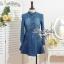 Lady Ribbon Denim Dress เดรสเชิ้ต ผ้ายีนส์ พร้อมเข็มขัด thumbnail 9