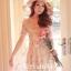 Ice Vanilla Princess Dress เดรสชีฟองแต่งผ้าลูกไม้ ลายดอกสีหวาน thumbnail 2