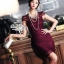 Odee Cutie เดรสลูกไม้ลุคหรูหราโทนสีไวน์แดง thumbnail 1