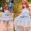 Liz Lisa Mermaid Maxi Dress เดรสทรงหางปลาสียีนส์ ผูกโบว์ไหล่ thumbnail 5