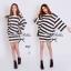 Stripe Jersey Mini Skirt Set เซ็ตเสื้อ กระโปรง ลายขวางขาวดำ thumbnail 7
