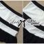 Lady Ribbon Minimal Chic Set ชุดเซ็ทเสื้อครอปและกระโปรง สีขาวดำ thumbnail 10