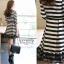 IceVanilla Fall Striped Stitch Lace Dress thumbnail 2