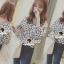 Seoul Secret Navy Daisy Perforate Blouse thumbnail 2