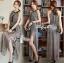 Lady Ribbon Maxi Dress เดรสยาวผ้าชีฟองผ่าข้าง ขายพร้อมเข็มขัด thumbnail 3