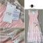 Lady Ribbon Vintage Dress แม็กซี่เดรสผ้าซิลค์ซาตินผสมผ้าลูกไม้ สีชมพู สีครีม thumbnail 10