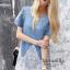 Icevanilla Dress เดรสยีนส์ แต่งชายระบายผ้าแก้วซีทรู thumbnail 1