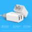 ที่ชาร์จไฟ USB 2 พอร์ต 2.1A+1A สำหรับ Tablet, iPad 4 ยี่ห้อ GOLF รุ่น GF-U206 (US Plug) thumbnail 4