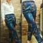 กางเกงแฟชั่นสไตล์ไฮแบรนด์ กางเกงเอวสูง พิมพ์ลายดอกไม้ thumbnail 2
