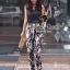 Seoul Secret ชุดเซ็ทเสื้อ กางเกงขายาวลายดอกซากุระ thumbnail 2
