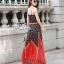 Odee Cutie Bohemian Maxi Dress แม็กซี่เดรสสายเดี่ยวสไตล์ vintage thumbnail 5
