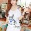 Seoul Secret Navy Doggy Print Tang-Top Dress thumbnail 6