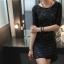 Black Lace Dress เดรสผ้าลูกไม้ สีดำ thumbnail 5